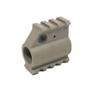 Guntec USA Aluminum Gas Block with Rail FDE